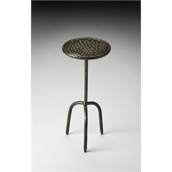 Butler Specialty Industrial Chic Round Pedestal Table in Gray