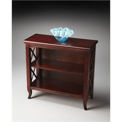 Butler Specialty Plantation Cherry 2 Shelf Low Bookcase in Dark Brown