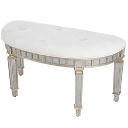 Butler Specialty Masterpiece Demilune Bench in Silver
