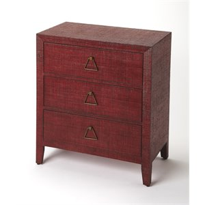 Butler Specialty Butler Loft 3 Drawer Accent Chest in Red