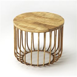 Butler Specialty Industrial Chic Round End Table in Natural