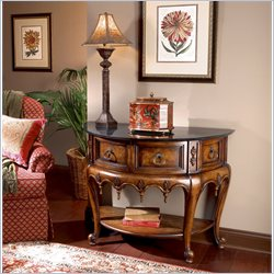 Butler Specialty Connoisseur's Stone Top Demilune Console Table