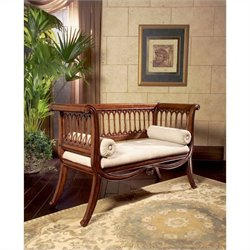 Butler Specialty Masterpiece English Settee Bench in Antique Cherry