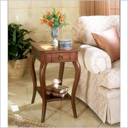Butler Specialty Plantation Cherry Rectangular Wood End Table