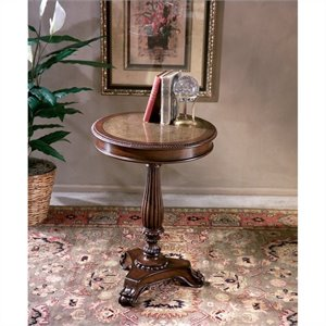 Butler Specialty Heritage Etched Brass Round Pedestal Table
