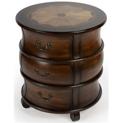 Butler Specialty Plantation Cherry Round Wood Barrel End Table