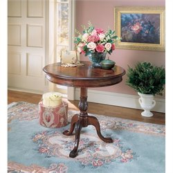 Butler Specialty Plantation Cherry Round Wood Pedestal Table