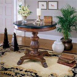 Butler Specialty Heritage Round Wood Accent Hall Table