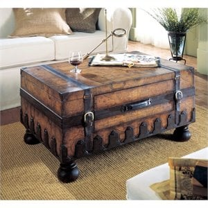 Butler Specialty Heritage Rectangular Wood Trunk Cocktail Coffee Table