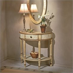 Butler Artists' Originals Demilune Console Table in Tuscan Cream