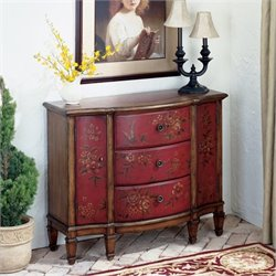Butler Specialty Artists' Originals Console Cabinet in Red Hand Painted Finish