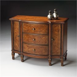Butler Specialty Connoisseurs Console Cabinet in Classic Walnut Finish