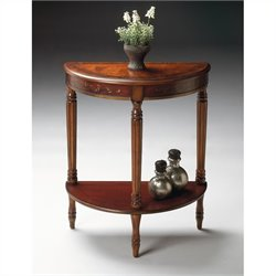 Butler Specialty Artists' Originals Demilune Console Table in Cherry and Red