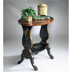 Butler Specialty Accent Table in Regal Black Hand Painted Finish