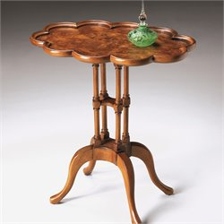 Butler Specialty Masterpiece Lloyd Oval End Table in Olive Ash Burl