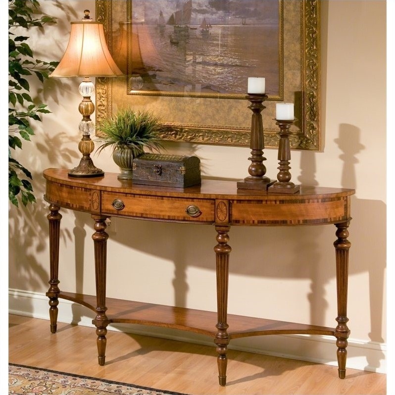 Butler Specialty Demilune Console Table in Connoisseur's Finish