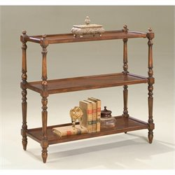Butler Specialty 3-Tier Console Table in Plantation Cherry Finish