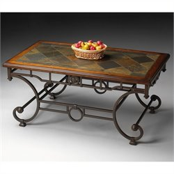 Butler Specialty Metalworks Cocktail Table in Distressed Metal Finish