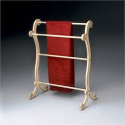 Butler Specialty Blanket Rack in Parchment Finish