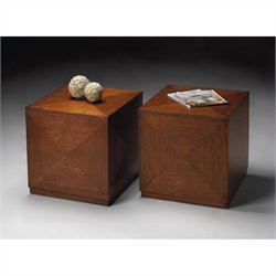 Butler Specialty Bunching Cube End Table in Chestnut Burl Finish