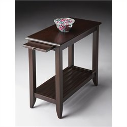 Butler Specialty Chairside Table in Merlot