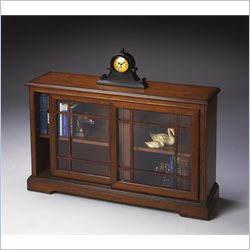 Butler Specialty Bookcase Console in Antique Cherry