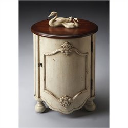 Butler Specialty Drum Table in Vanilla and Cherry