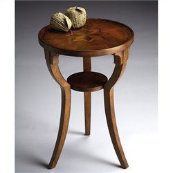 Butler Specialty Round Accent Table in Olive Ash Burl Finish