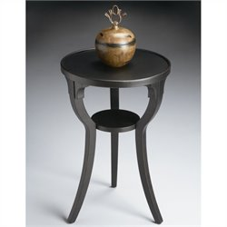 Butler Specialty Round Accent Table in Black Licorice Finish