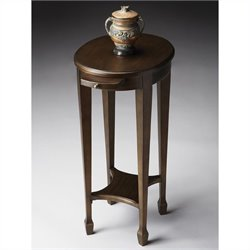 Butler Specialty Accent Table in Black on Gold Finish