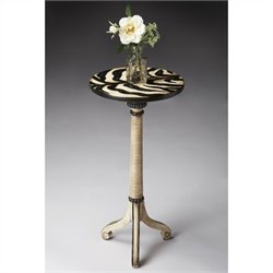 Butler Specialty Pedestal Table in Zebra Stripe Finish