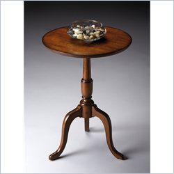 Butler Specialty Round Accent Table in Old World Cherry