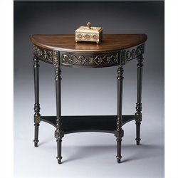 Butler Specialty Demilune Console Table in Café Nouveau