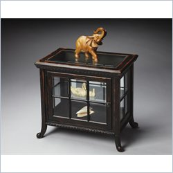 Butler Specialty Masterpiece Chair Side Curio in Midnight Rose