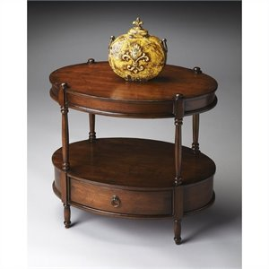 Butler Specialty Masterpiece Oval Accent Table in Madrid Brown