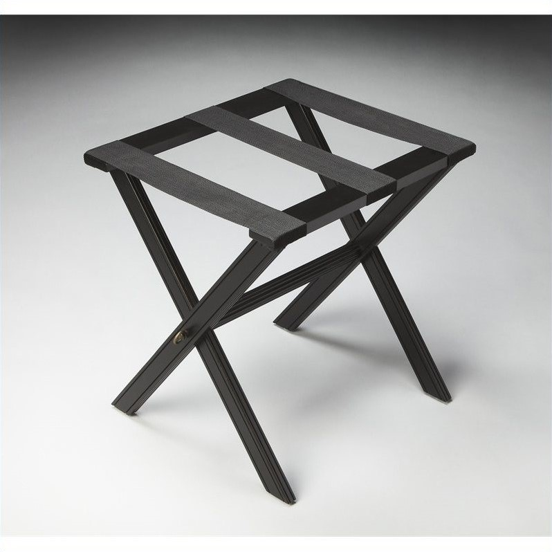Butler Specialty Masterpiece Luggage Rack in Black Licorice