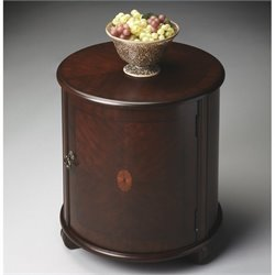 Butler Specialty Drum Table in Plantation Cherry