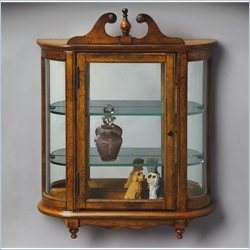 Butler Specialty Masterpiece Wall Curio in Vintage Oak