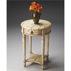 Butler Specialty Artists' Originals Accent Table in Winter Forest