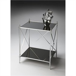 Butler Specialty Modern Expressions End Table in Nickel
