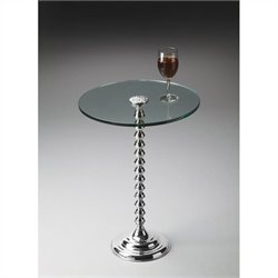Butler Specialty Modern Expressions Pedestal Table in Nickel