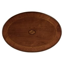 Butler Specialty Masterpiece Oval Cocktail Table in Olive Ash Burl