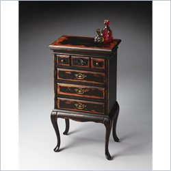 Butler Specialty Masterpiece Jewelry Chest in Midnight Rose