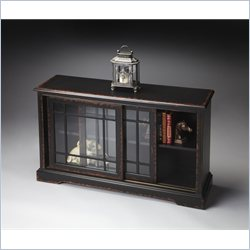 Butler Specialty Masterpiece Bookcase Console in Midnight Rose