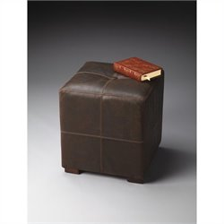 Butler Specialty Modern Expressions Bunching Leather Ottoman