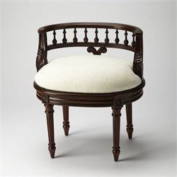 Butler Specialty Masterpiece Hathaway Madrid Brown Vanity Seat