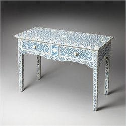 Butler Specialty Olivia Blue Bone Inlay Console Table