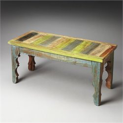 Butler Specialty Artifacts Rao Painted Wood Bench