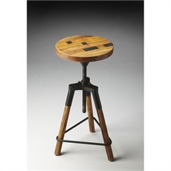 Butler Specialty Industrial Chic Revolving Bar Stool