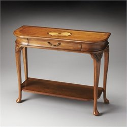 Butler Specialty Masterpiece Ridgeland Console Table in Olive Ash Burl